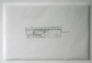 schwarze Linien auf Transparentpapier