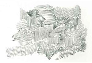 Bleistiftlinien in Form von Schraffuren